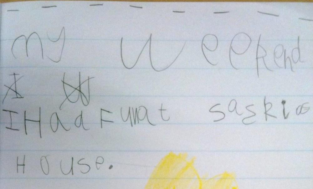Week 7 Term 2 Writing Samples - 5 & 6 Year Olds (17 weeks of formal education for my Prep students! ) (3/6)