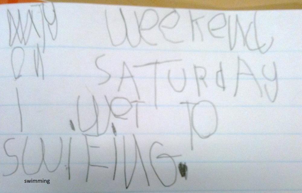 Week 7 Term 2 Writing Samples - 5 & 6 Year Olds (17 weeks of formal education for my Prep students! ) (4/6)