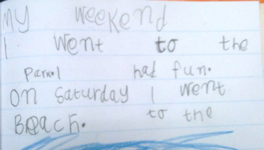 Week 7 Term 2 Writing Samples - 5 & 6 Year Olds (17 weeks of formal education for my Prep students! ) (5/6)
