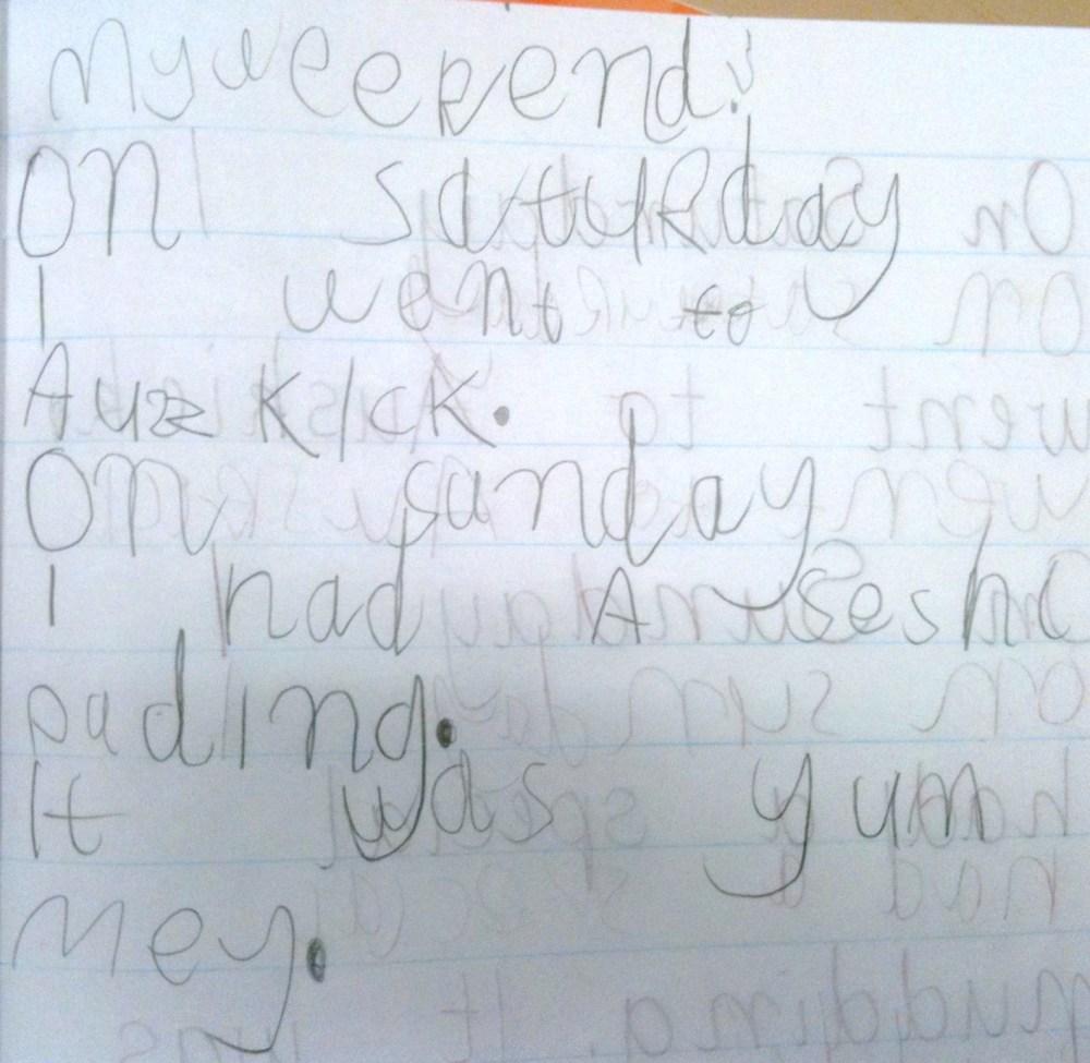 Week 7 Term 2 Writing Samples - 5 & 6 Year Olds (17 weeks of formal education for my Prep students! ) (6/6)