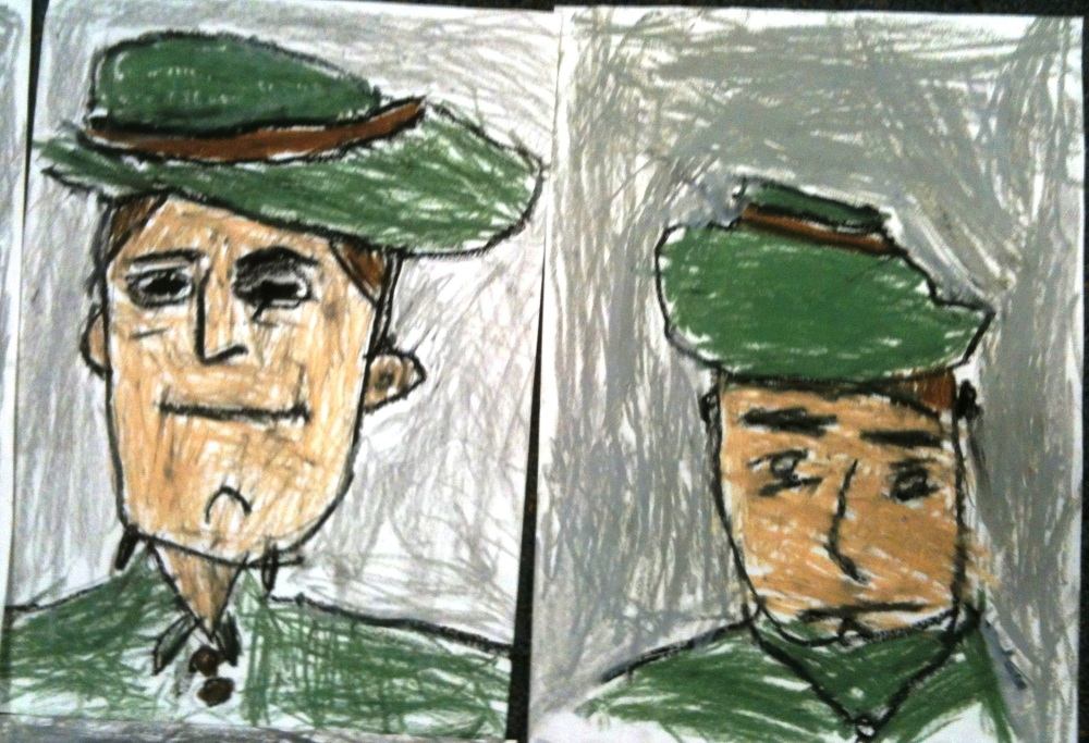 ANZAC Day 2012: PrepD children (5 Year Olds) respond to the famous story Simpson and his Donkey  (4/6)