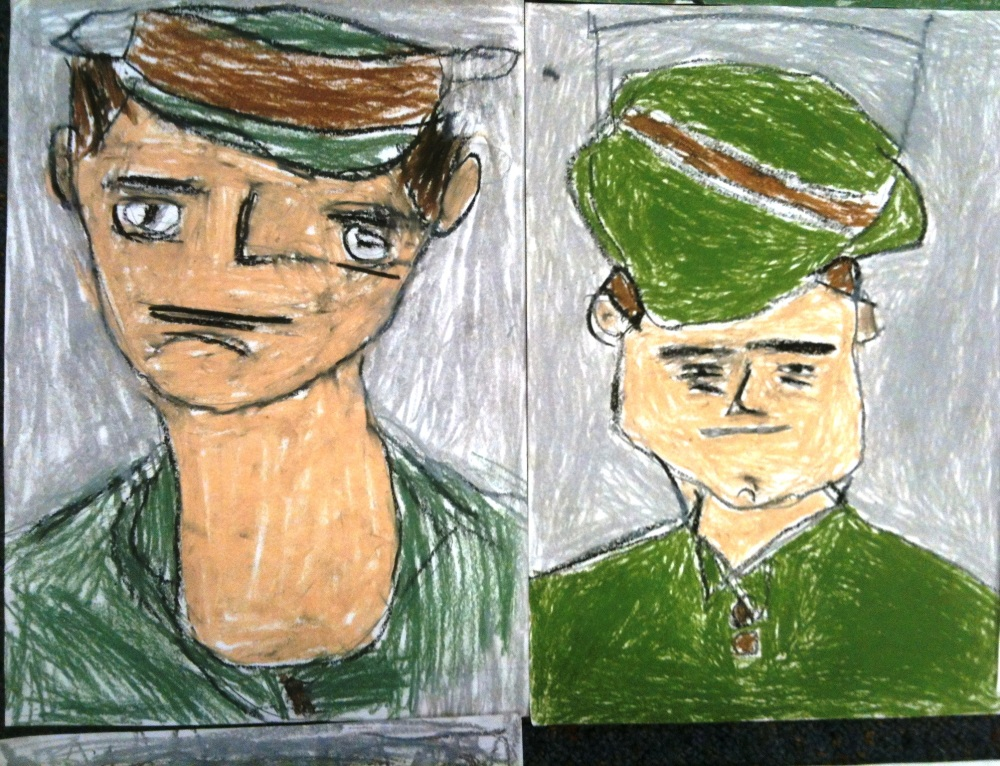 ANZAC Day 2012: PrepD children (5 Year Olds) respond to the famous story Simpson and his Donkey  (5/6)