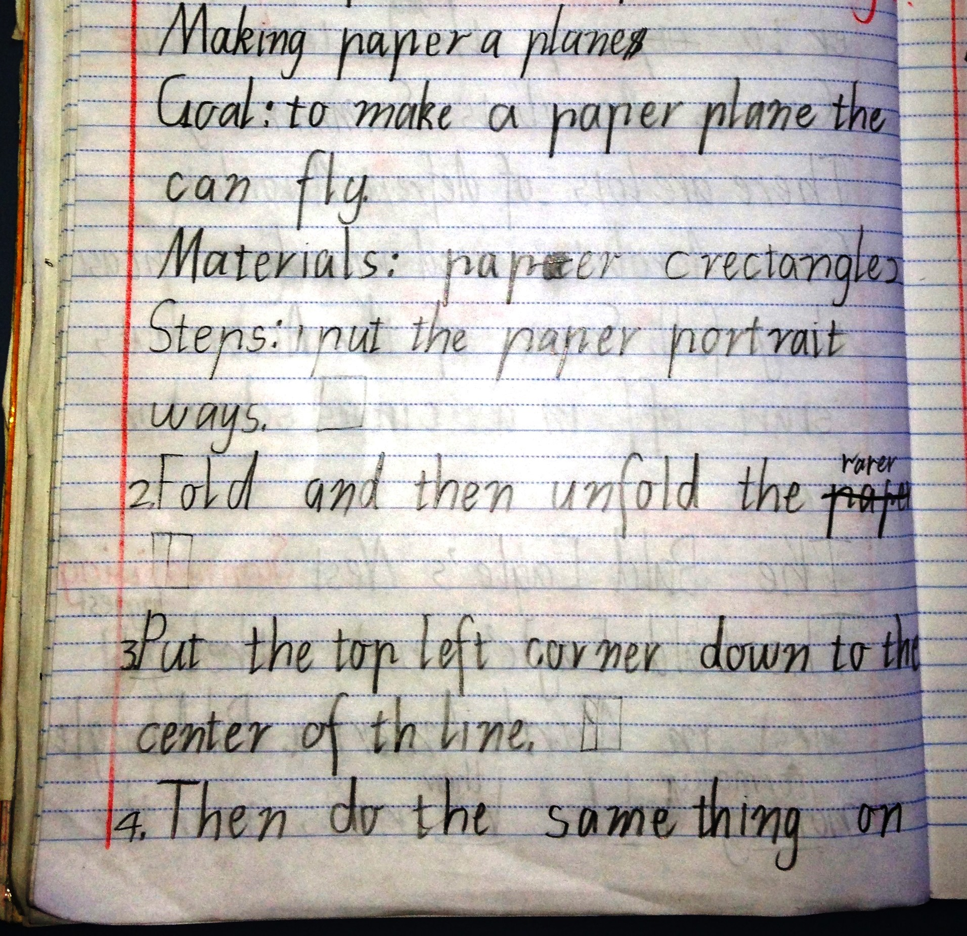 Procedural Text The Fun Genre How To Make A Paper Plane