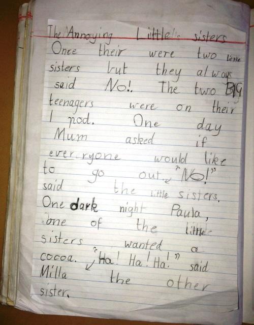 Classroom writing 008