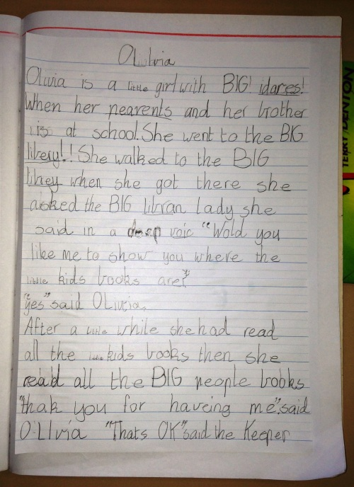 Classroom writing 012