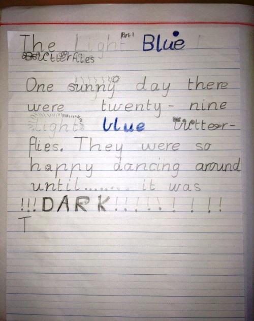 Classroom writing 014