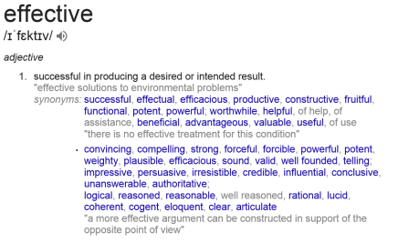 effective definition